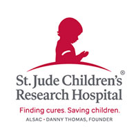 St. Jude Children's Research Hospital logo, Finding cures. Saving Children.